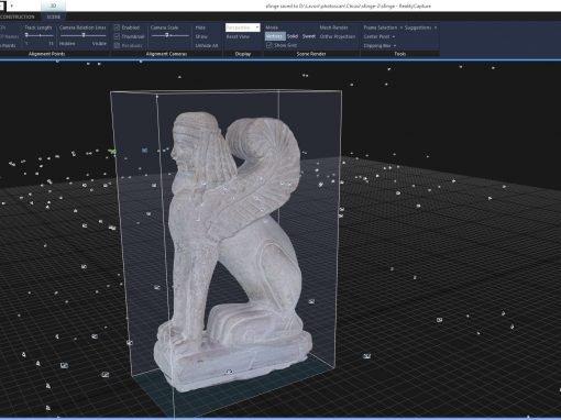Modelli 3D scultura funeraria Etrusca di Chiusi